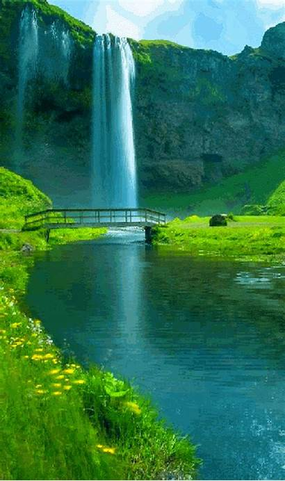 Animated Water Places Waterfall Nature Tischner Robert