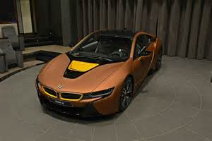 Custom Side Mirrors by Bmw I8 Gets A Matte Copper Wrap
