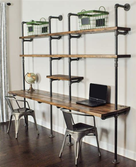 desk and shelving unit industrial desk and shelf unit 8 39 and 10 39 by baxterhouse