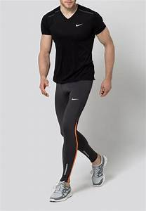 Tights - anthracite/total orange/reflective silver | Tech Gym and Air max