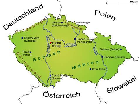 landkarte von tschechien deutschland karte