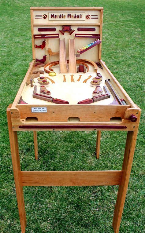 marble pinball machine woodworking plan forest street designs