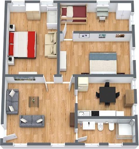 planimetria da letto affitto appartamento venezia con 3 camere da letto