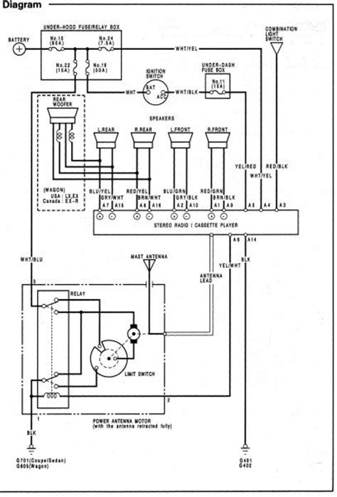 2004 Honda Civic Speaker Wiring Diagram by 94 Accord Ex Radio Wiring Honda Tech