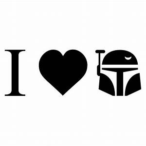 i love boba fett vinyl sticker car decal With kitchen colors with white cabinets with boba fett sticker