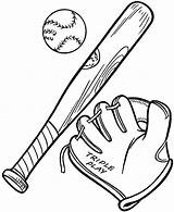 Baseball Bat Glove Coloring Ball Pages Cubs Chicago Drawing Mlb Softball Gears Complete Clipart Printable Getdrawings Getcolorings Getcoloringpages Comments sketch template