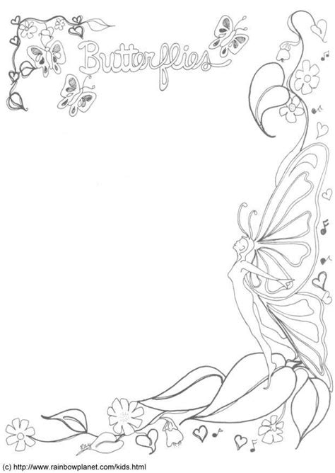 coloring page butterfly decoration  printable