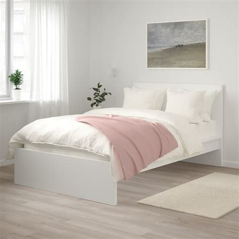 malm bed frame high white luroey ikea