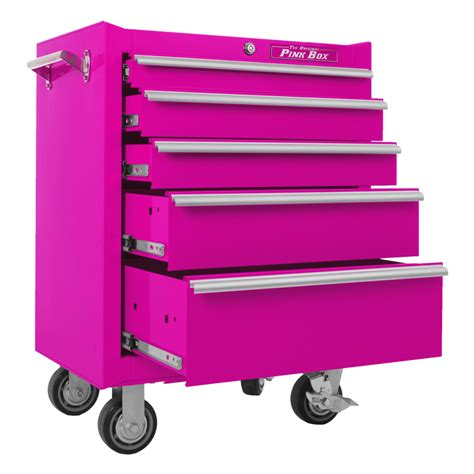 pink   drawer rolling cabinet store tools  style