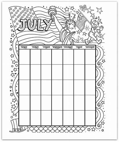 Calendar Printable Coloring Pages Month Credit Woojr