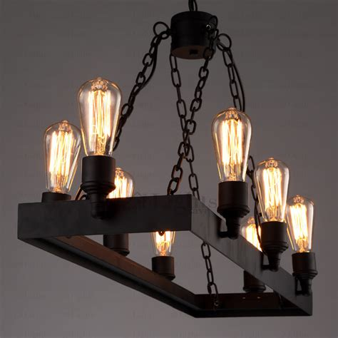 industrial looking light fixtures rustic 8 light wrought iron industrial style lighting fixtures