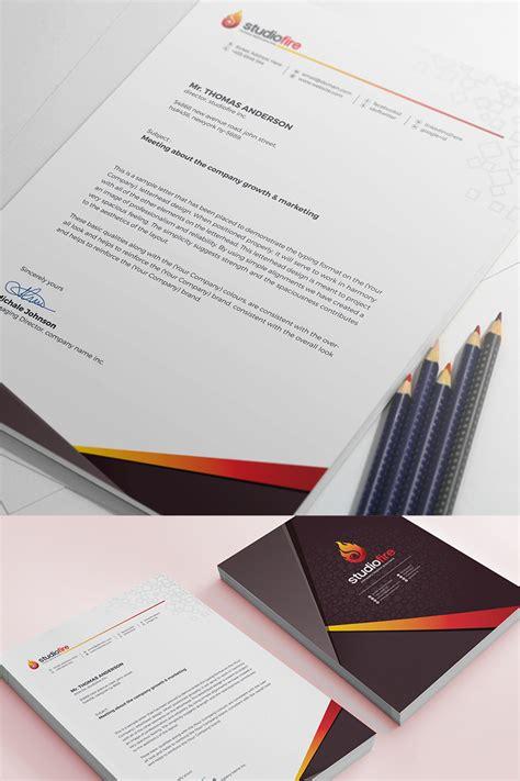 creative letterhead template corporate identity template