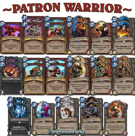 hearthstone decks warrior grim patron 1000 images about hearthstone on hunters