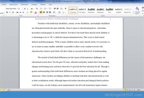 A Mild Suggestion Essay by Introduction To Intellectual Disability Essay