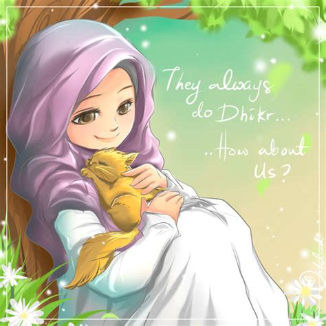 750 Gambar Kartun Islam Comel Terbaik