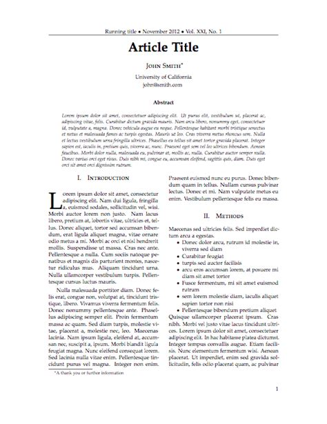 A Concise Set Of Latex
