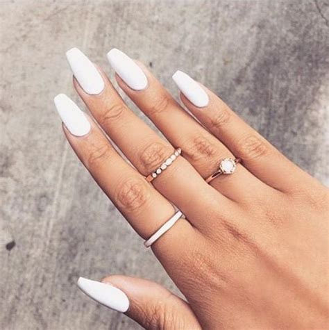 long white nails pictures   images  facebook