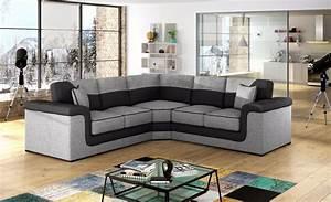Huge Sale New Large Symphony Leather Fabric Corner Sofa