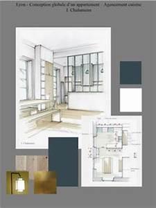 conseil dessin decoration interieur plan planche With good plan d appartement 3d 9 amenagement sejourcuisine bureau