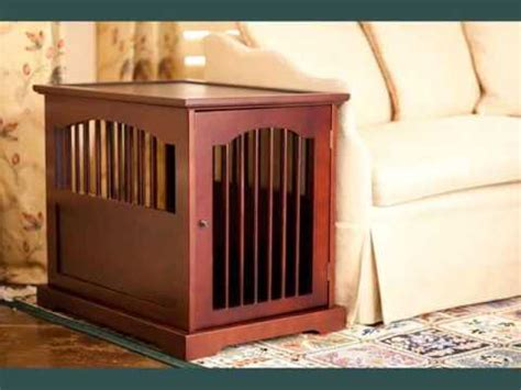 collection  wood dog crate furniture youtube