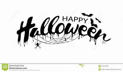 Vector Halloween Happy Text Banner October