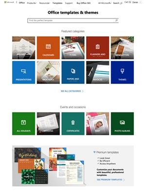 office templates  word excel powerpoint office