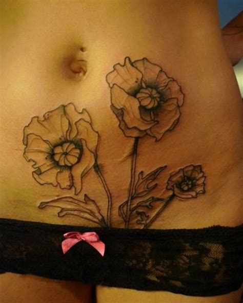 stomach tattoos  women ideas