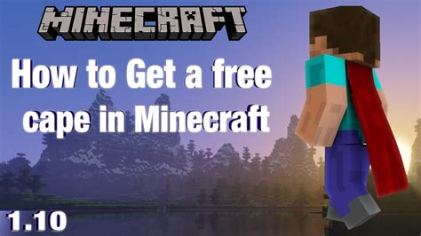 How To Get A Free Cape In Minecraft Minecraft Project