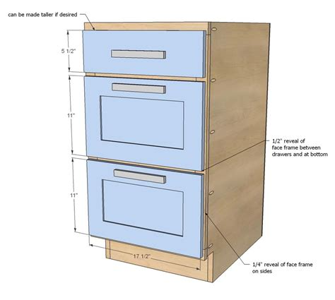 how to build kitchen cabinet drawers ana white build a 18 quot kitchen cabinet drawer base free