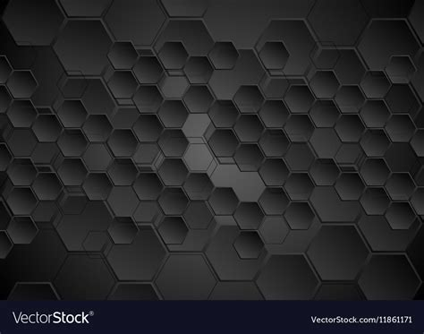 Abstract Black Texture Background Hexagon by Abstract Black Background With Hexagons Texture Vector Image