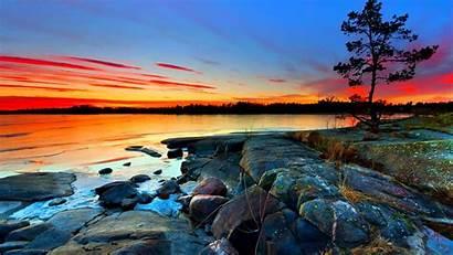 Screen Sunset Sea Desktop Sky Cloud Rocky