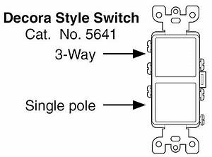 leviton decora combination stacked single pole 3 way switch With 3 way switch cost