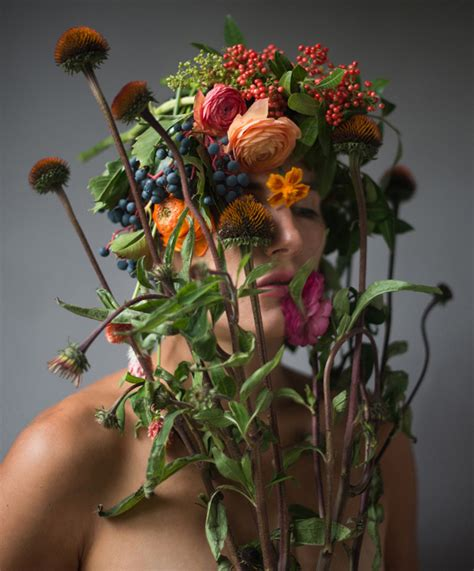 flower face photography  kristen hatgi sink great inspire