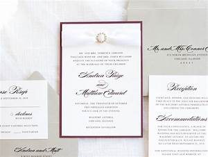 elegant formal wedding invitation with satin ribbon and With ribbon embellishments wedding invitations