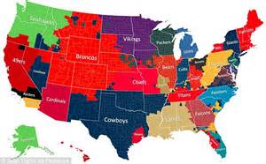 what football team has the most fans nfl fan map shows most popular teams by facebook posts