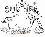 Summer Coloring Pages Holidays Printable Seasonal Holiday Winter sketch template