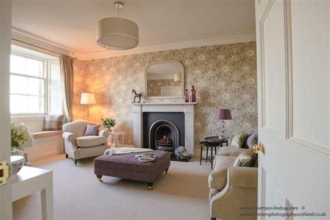 Upholstered Stools For Living Room by Living Room Design Idea Lilac Beige Purple Upholstered