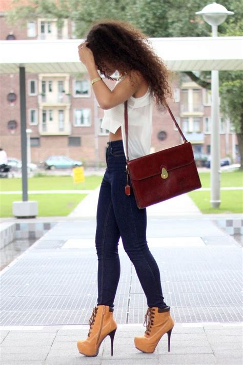 Timberland Heels Outfit - Oasis amor Fashion