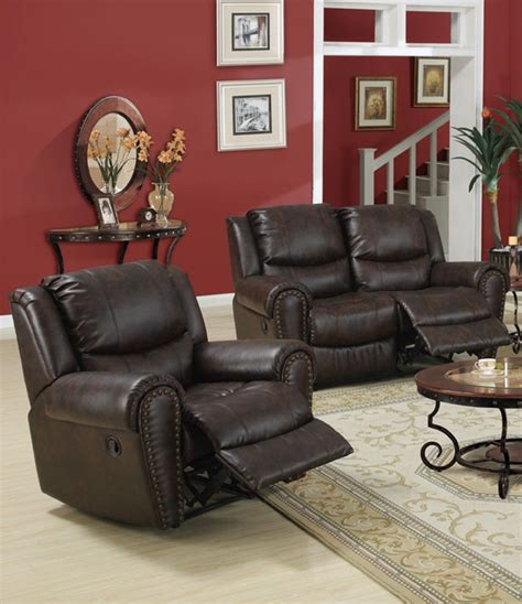 contemporary reclining sofa set poundex f7737 hot