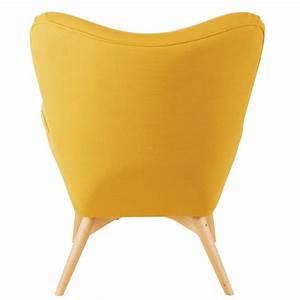Fauteuil Scandinave Jaune : fauteuil style scandinave jaune iceberg maisons du monde ~ Melissatoandfro.com Idées de Décoration