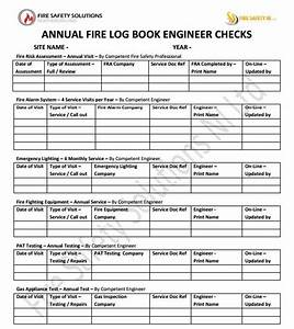 fire alarm log book template - fire safety northern ireland fire safety solutions ni