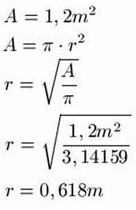 Querschnitt Berechnen Formel : fl che kreis ~ Themetempest.com Abrechnung