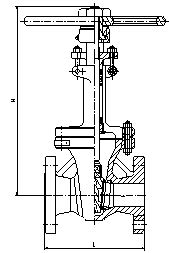 Expanding Bolted Bonnet Flanged Gate Valve Flexible Wedge