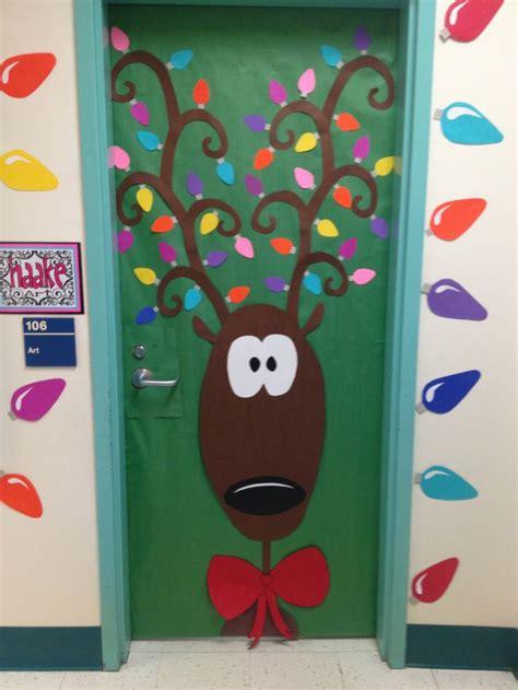 christmas doors in schools 25 best ideas about door decorations on