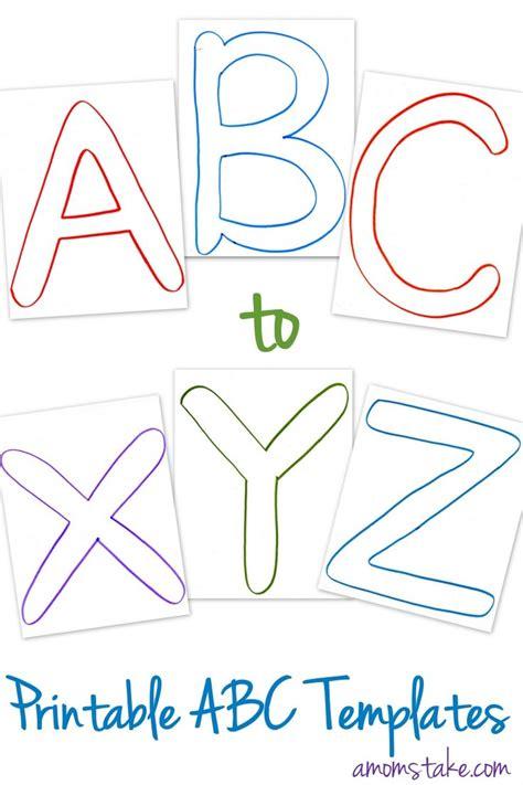 abc printable templates mom printable letters