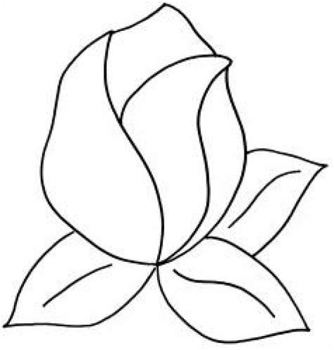 quilt pattern stencil rose bud   clipart