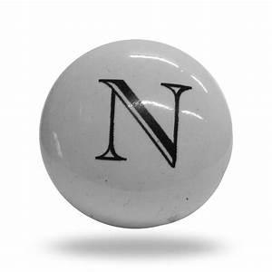 ceramic letter n door step knob With letter door knobs