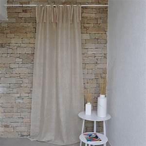 Rideaux En Lin Naturel : rideau gaze de lin naturel maison d 39 t ~ Dailycaller-alerts.com Idées de Décoration