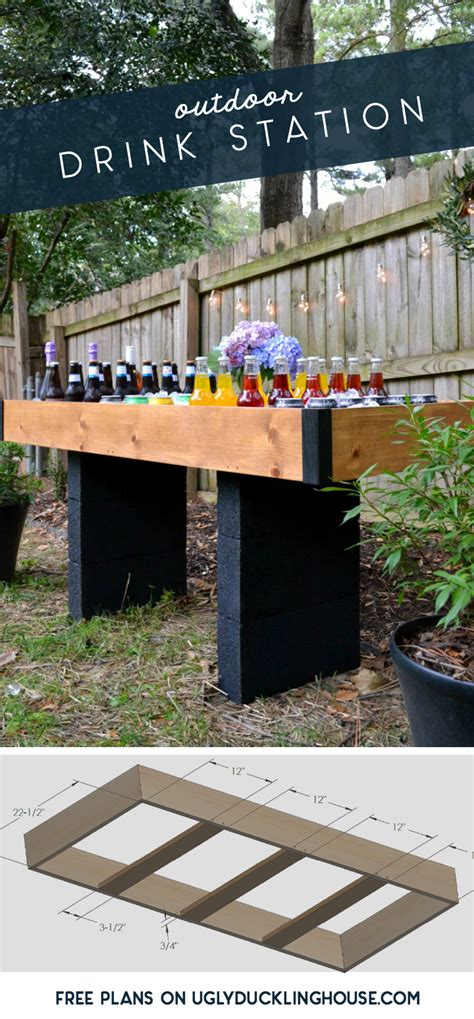 Diy Outdoor Drink Station For Backyard Entertaining • Ugly