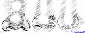 How to Draw Realistic Noses, Draw Noses, Step by Step ...
